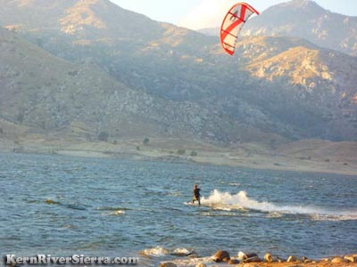 Kiting lake Isabella
