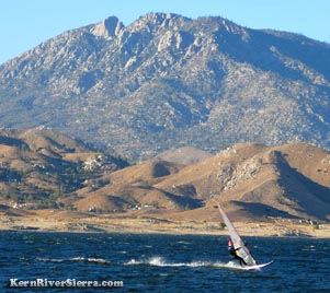 Winsurfers on Lake Isabella